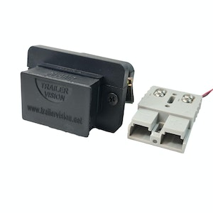 Trailer Vision 50 amp Anderson Plug Flush Mount Connector Assembly with Screw Contact Plug