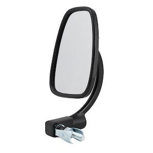 Devon Satin Black Bar End Mirror