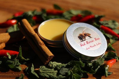 Red Baron Bees Sore Muscle Salve