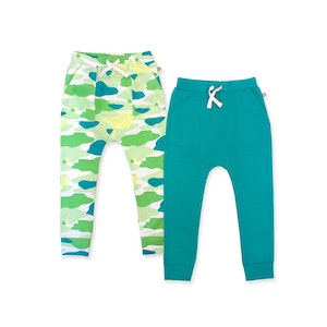 OETEO Australia Camo Flash Harem Pants 2-Piece Bundle Set (Green)