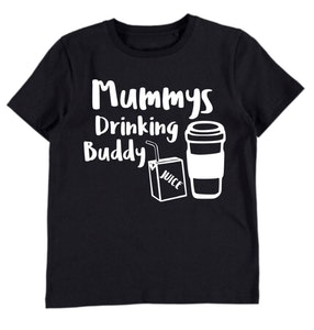Mummy's Drinking Buddy Black Tee