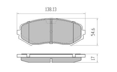 RDA GP MAX FRONT BRAKE PADS for Suzuki Grand Vitara 1.6L 2.0L 3.2L 9/2005-2/1015
