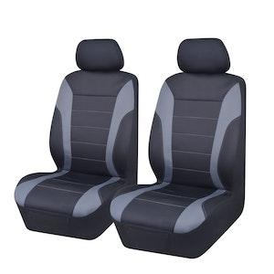 Universal Ultra Light Neoprene Front Seat Covers Size 30/35 | Black/Grey