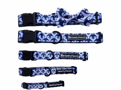 VanityPaws Little Penguins - Collar & Removable Bow