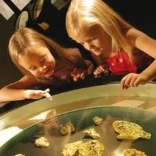 Girls enjoy the Gold Museum