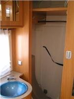 Hymer Nova cupboard space