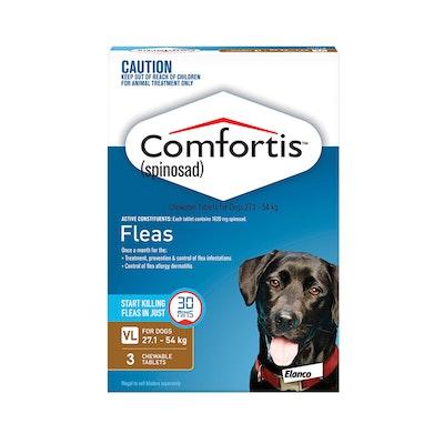 Comfortis Brown Flea Tablets 27.1-54kg Dog