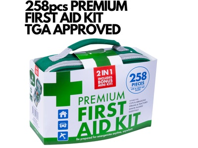 Boutique Medical 258PCS PREMIUM FIRST AID KIT Medical Travel Set Emergency Family Safety Office