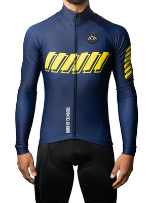 Band of Climbers ThermoAscent Long Sleeve Jersey - AquaNavy