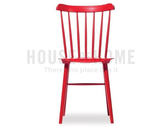 Relax house original ironica beechwood dining chair red for Red dining chairs for sale