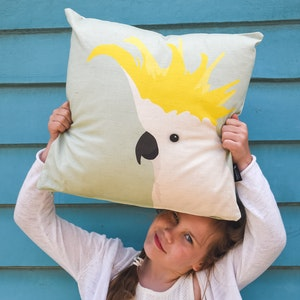 Cockatoo Cushion in Aqua by Cockatoo Collection