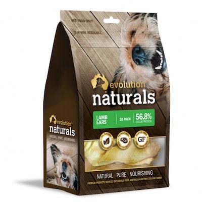 EVOLUTION NATURALS Lamb Ears Dog Treats 10 Pack