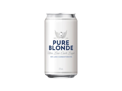 Pure Blonde Ultra Low Carb Lager Can 375mL
