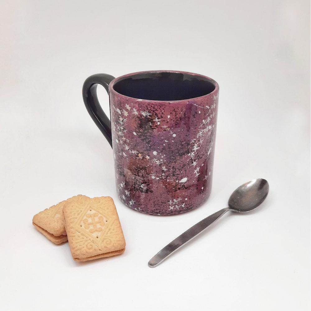 Lauren Michelle Designs  Pink/purple 12oz Galaxy Mug