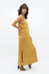 1 People Calabar Silk Slip Dress in Mimosa Yellow