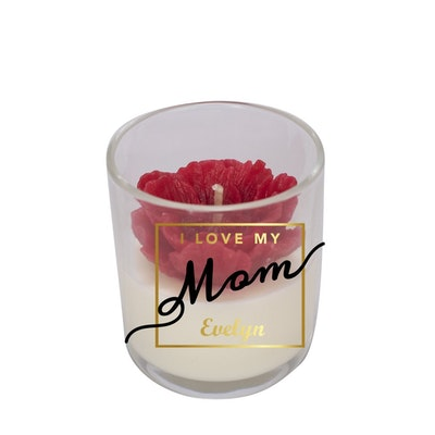 Symbolic Studio Mother's Day Peony - Personalised Handmade candle - SN008-M2