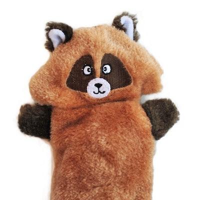 Zippy Paws ZippyPaws - Zingy No Stuffing Durable Squeaky Plush Dog Toy - Raccoon