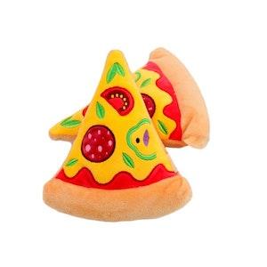 DoggyTopia Pizza Slice Squeaker Dog Toy