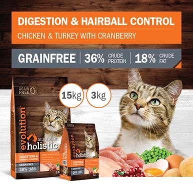 "Next Generation Evolution Holistic Dry Cat Food Evolution Holistic ""Digestion & Hairball Control"""