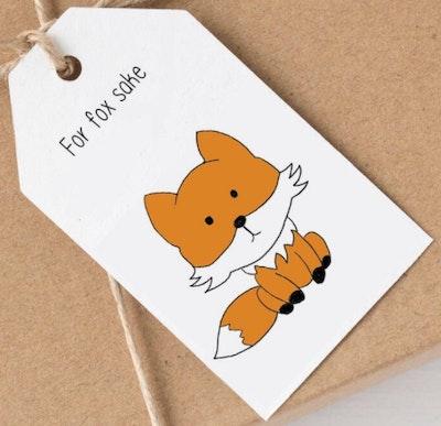 SOUL Self Care  Pleasant Tree Designer Gift Tags - FOR FOX SAKE 2021