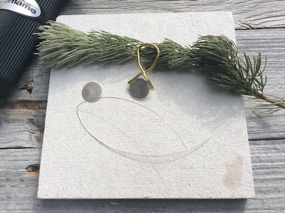 Sarah Munnings Jewellery Workshop at home - 8 - Learn to Solder pendant - Copper, Brass and silver.