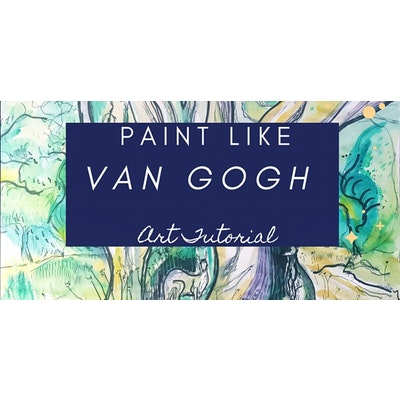 Iconic Colours Experience- PAINT LIKE VAN GOGH Zoom Workshop for Groups