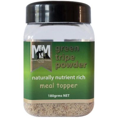 MEALS FOR MUTTS MFM Pets Green Tripe Naturally Nutrient Rich Meal Topper Powder 180g