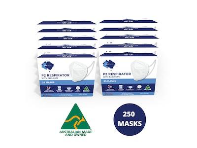 PPE Tech 250 P2 Face Masks Australian Made (Equiv. N95/KN95/FFP2) / New
