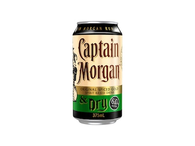 Captain Morgan Original Spiced Gold and Dry Can 375mL