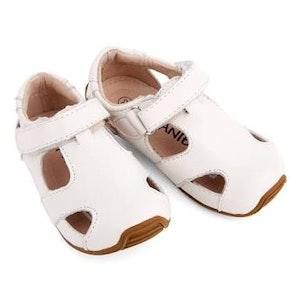 Skeanie Sunday Sandals Hard Sole White