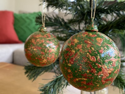 Fiona Adams Artwork Christmas Tree Decorations (set of 2)
