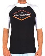 Mens Slash SS Rash Shirt - Black Mens Slash SS Rash Shirt - Black