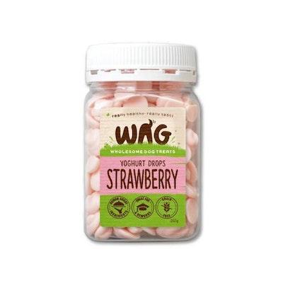 WAG Strawberry Yoghurt Drops Dog Treats