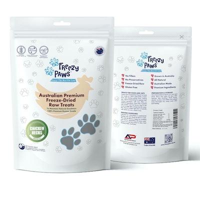 Freezy Paws Premium Freeze-Dried Chicken Neck Raw Treats 100g