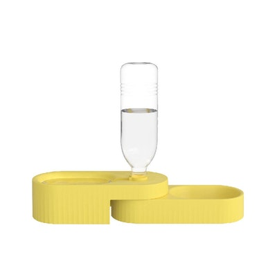 Pidan Dual Bowl For Dogs - Yellow