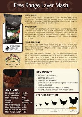 Country Heritage Organic Free Range Layer Mash Chicken Feed 20kg