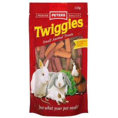 Peters Twiggies Small Animals Treat Sticks 4 x 150g