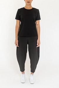 ngali Black Bark Silk Pants
