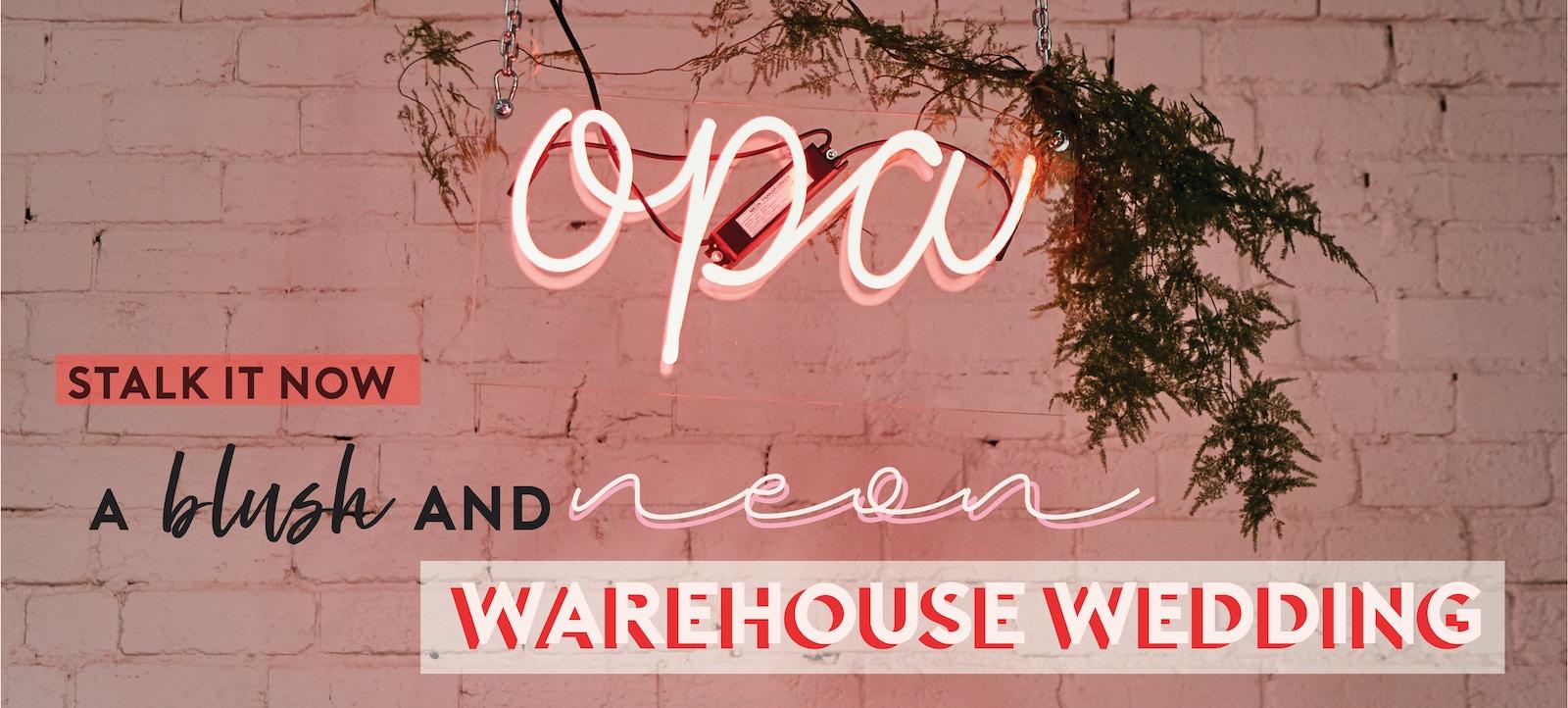 Warehouse Wedding Inspiration | LENZO