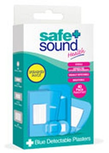 Safe + Sound Blue Detectable Plasters 40 Assorted