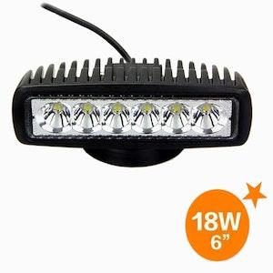 "6"" 780 Lumen 18 Watt Spot Beam Slim LED Light"