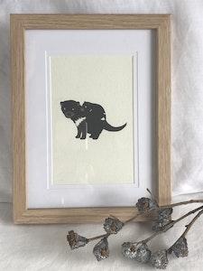 Art'N Green Tasmanian Devil Mum & Bub Art Print - A4 Print on handmade paper (unframed)