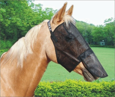 Capriole Equestrian PVC Fly Veils with Nose Cover