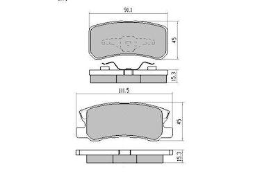 RDA GP MAX REAR BRAKE PADS for Mitsubishi Pajero NM NP 2000-2006 RDB1464