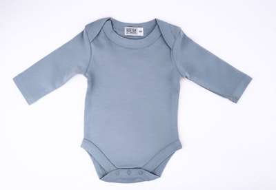 Powder Blue Onesie - Long Sleeve