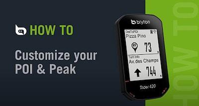 Bryton Rider 420 | Customize POI / Peak