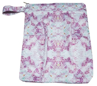 Premium Double Pocket Wetbag: Coral Swirl