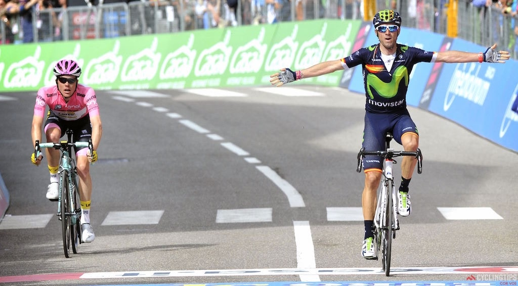 Valverde Takes Maiden Giro Stage Win and Advances to Third Overall