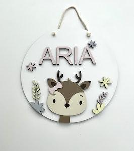 Asagai Gifts & Home Decor Round Door Sign Deer