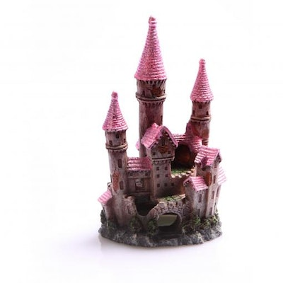 Aqua One AO Ruined Underwater Castle Small Pink